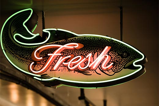 Fresh Food Market in North Vancouver at Lonsdale Quay
