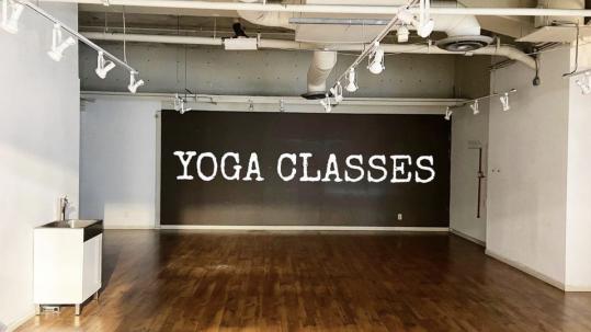Indoor Yoga Space with Hard Wood Floors